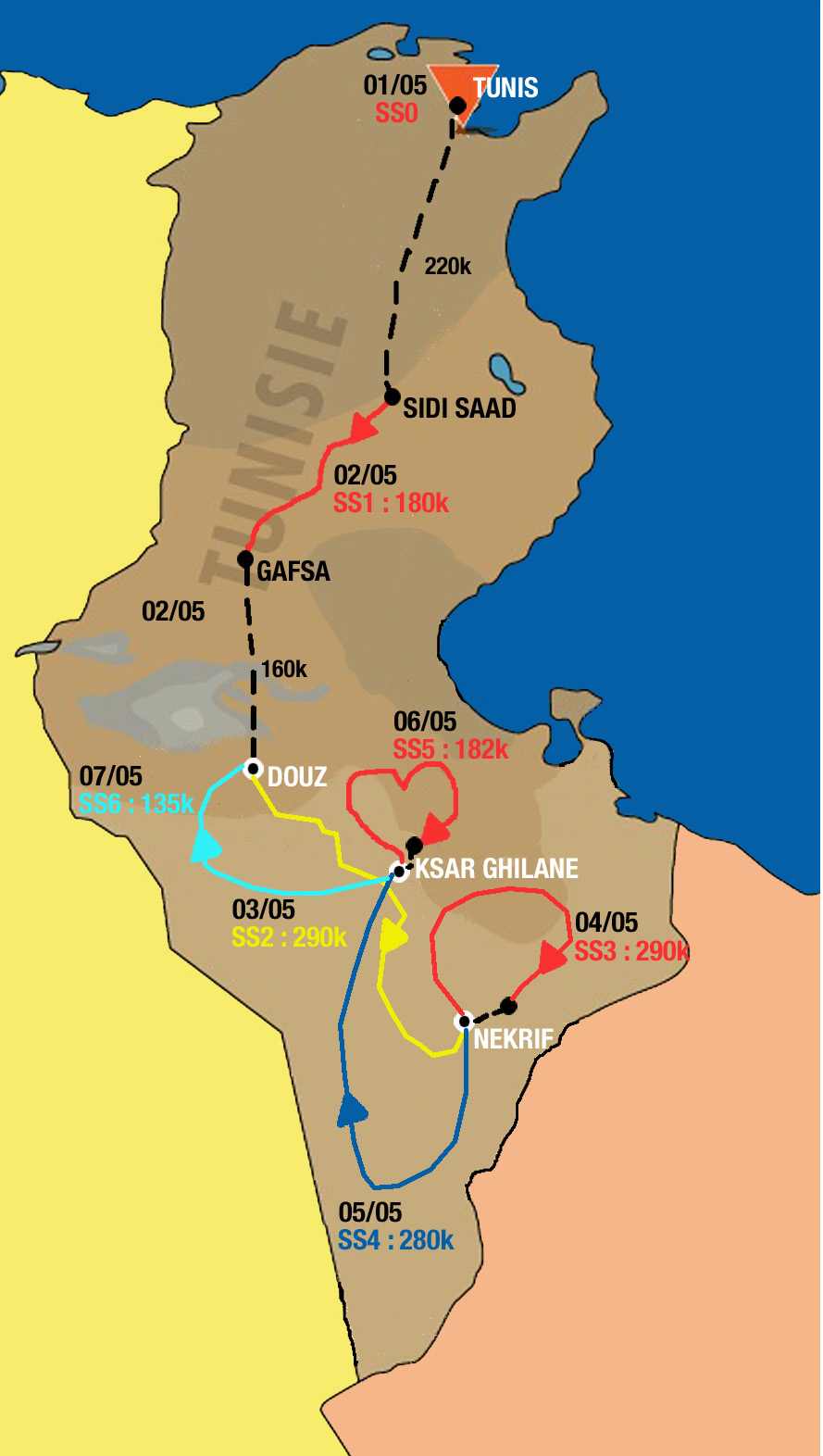 Tunisia 2010 Map